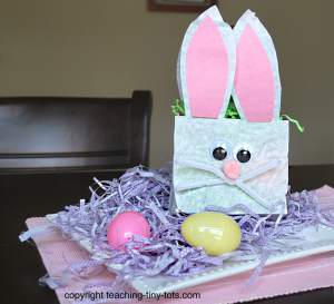 lunch bag bunny Rabbit for Easter