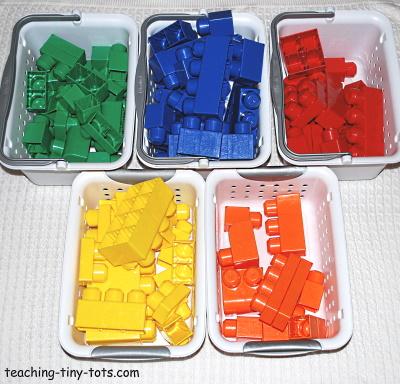 Sorting Mega Bloks