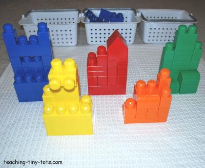 Reinforce colors with Mega Bloks