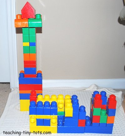 Building tall and wide with Mega Bloks