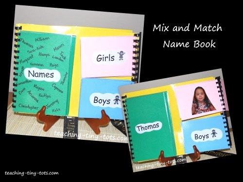 Make a kids name book.