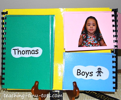 Make a name book for your class.