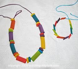 making pasta bracelets