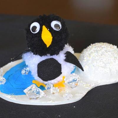 Penguin scene for a Penguin themed birthday party.