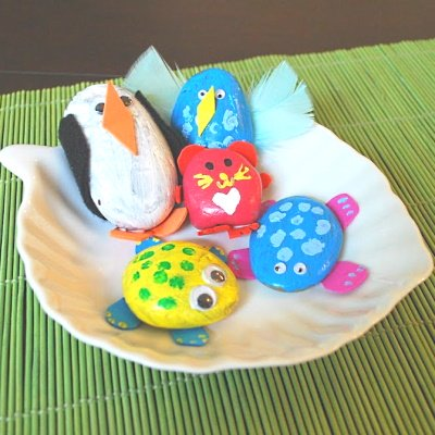Make these cute painted rock pets.
