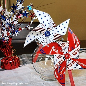 Pinwheels for 4th of July Decorations
