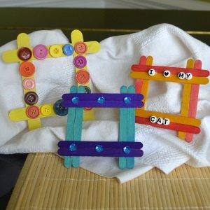 making popsicle frames