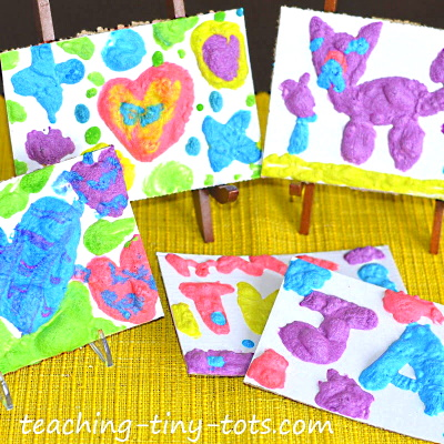 Easy to Make Puffy Paint recipe for kids of all ages