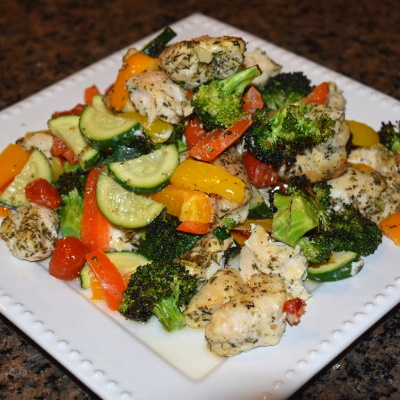 Roasted Veggies and Chicken Recipe