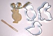 Use a pick to make decorations on the edges of your salt dough ornaments.