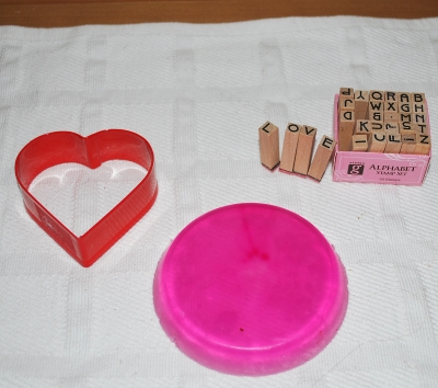 Imprinting on Soap Using Stamps and Cookie Cutters
