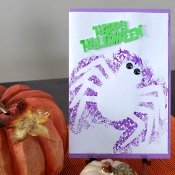 Hand Painted Halloween Card