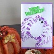 Hand Painted Halloween Card