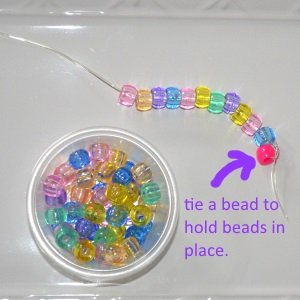 tip for stringing beads