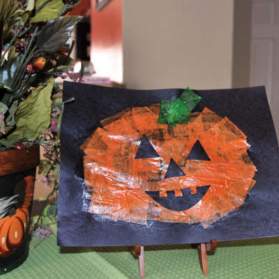 A writing and art activity for pumpkins.