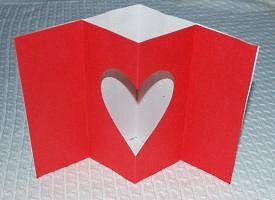 Make a pop-up Valentines Day card.