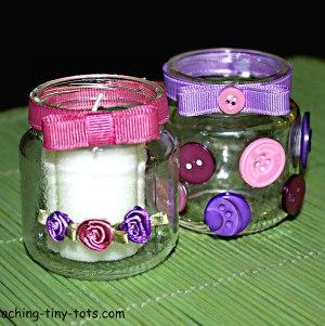 Baby Jar Votive Candle