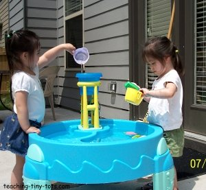 water table hands on learning